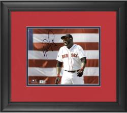 "David Ortiz Boston Red Sox Framed Autographed 8"" x 10"" Smiling Photograph"