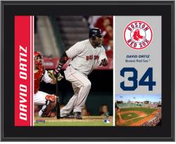 "David Ortiz Boston Red Sox Sublimated 10"" x 13"" Plaque - Mounted Memories"