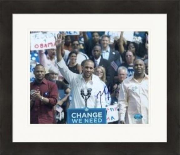 David Price autographed 8x10 photo (Boston Red Sox Tampa Rays) #SC1 Obama Election Matted & Framed