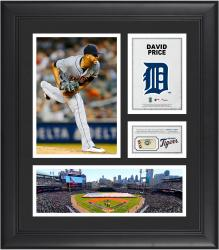 David Price Detroit Tigers Framed 15'' x 17'' Collage with Piece of Game-Used Ball