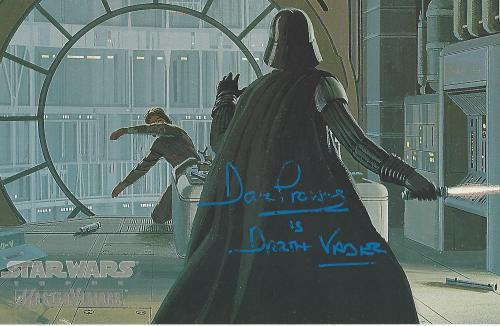 """DAVID PROWSE as DARTH VADER on """"STAR WARS"""" Signed 10x7.5 TOPPS STAR WARS MASTER VISIONS"""