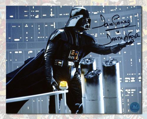 David Prowse Autographed Darth Vader Star Wars 8x10 Photo