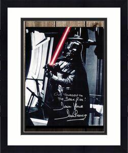 David Prowse Darth Vadar STAR WARS Dark Side Signed 8X10 Photo