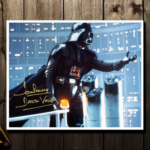 David Prowse Darth Vadar STAR WARS Empire Strikes Back Signed 8X10 Photo