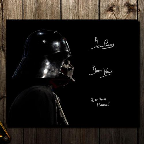 David Prowse Darth Vadar STAR WARS I Am Your Father Signed 16x20 Photo