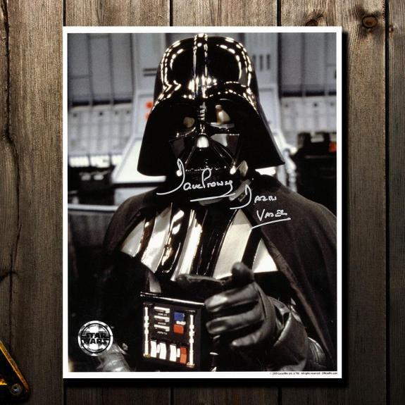 David Prowse Darth Vadar STAR WARS Signed 8X10 Photo