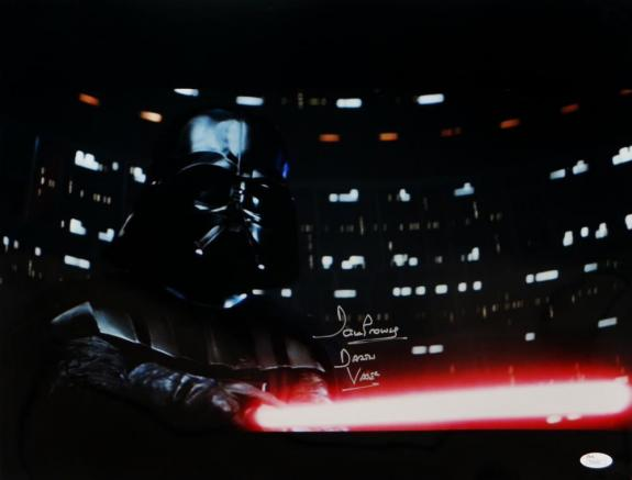 David Prowse Darth Vader Signed Star Wars 16x20 Light Saber Photo- JSA Auth *C-S
