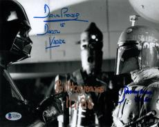 DAVID PROWSE HARGREAVES JEREMY BULLOCH SIGNED 8x10 PHOTO STAR WARS BECKETT BAS