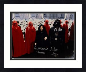Prowse/ McDiarmid Signed Star Wars 16x20 Darth Vader/Emperor Photo- Beckett Auth