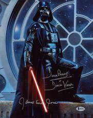 DAVID PROWSE & JAMES EARL JONES SIGNED 11x14 PHOTO DARTH VADER STAR WARS BECKETT
