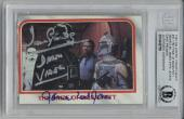 David Prowse James Earl Jones Signed 1980 Topps #91 Star Wars Rare Beckett Bas