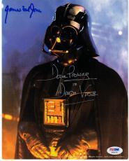 David Prowse James Earl Jones signed Darth Vader 8x10 photo PSA/DNA