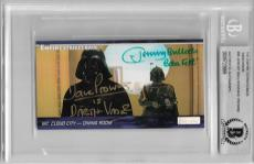 David Prowse Jeremy Bulloch Signed #95 Empire Strikes Back Star Wars Beckett Bas