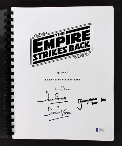 David Prowse & Jeremy Bulloch Signed Star Wars Movie Script BAS #C58893
