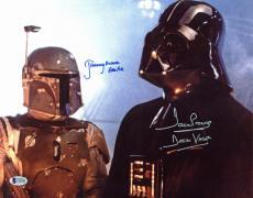 David Prowse & Jeremy Bulloch Star Wars Signed 11x14 Insc. Photo BAS
