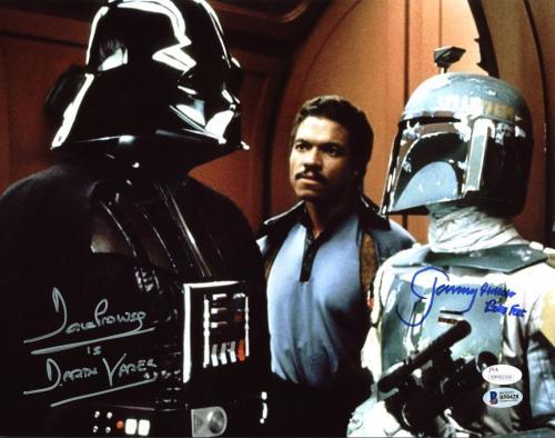David Prowse & Jeremy Bulloch Star Wars Signed 11X14 Photo BAS