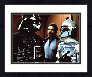 David Prowse & Jeremy Bulloch Star Wars Signed 11X14 Photo BAS