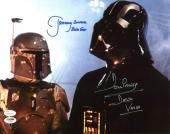 David Prowse & Jeremy Bulloch Star Wars Signed 11X14 Photo PSA/DNA