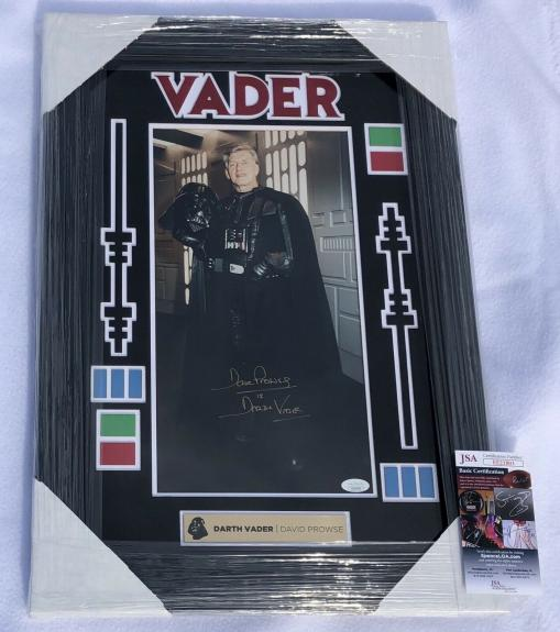 David Prowse Sigmed Star Wars Darth Vader Custom Framed & Matted Photo JSA COA