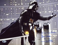 DAVID PROWSE SIGNED 11x14 PHOTO + GREAT QUOTE DARTH VADER STAR WARS BECKETT BAS