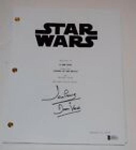 David Prowse Signed Autographed STAR WARS EPISODE IV A NEW HOPE Script BAS COA