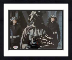 """David Prowse Signed """"Darth Vader"""" Star Wars 8x10 Photo PSA AF24010"""