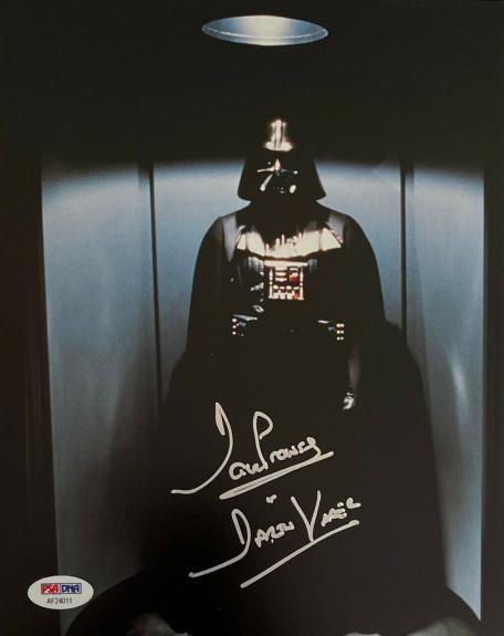 """David Prowse Signed """"Darth Vader"""" Star Wars 8x10 Photo PSA AF24011"""