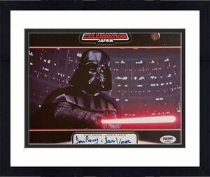 """David Prowse Signed """"Darth Vader"""" Star Wars 8x10 Photo PSA AF49608"""