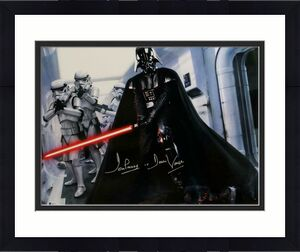 David Prowse Signed Star Wars 16x20 Darth Vader W/ Stormtroopers Photo- Beckett