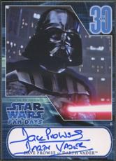 David Prowse signed Star Wars Darth Vader Fan Days I Card 2007