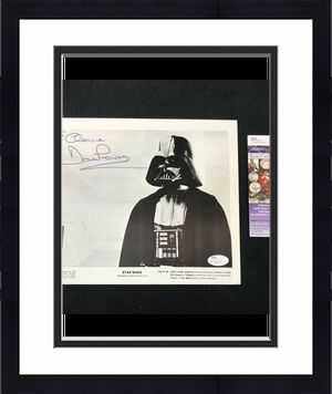 "David Prowse Signed ""To Chewie"" Star Wars Darth Vader Promo 8x10 Photo JSA COA"
