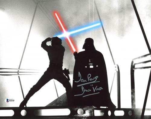 "David Prowse Star Wars ""Darth Vader"" Signed 11X14 Photo BAS 1"