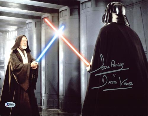 """David Prowse Star Wars """"Darth Vader"""" Signed 11X14 Photo BAS 4"""