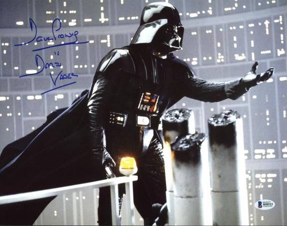 "David Prowse Star Wars ""Darth Vader"" Signed 11X14 Photo BAS 5"