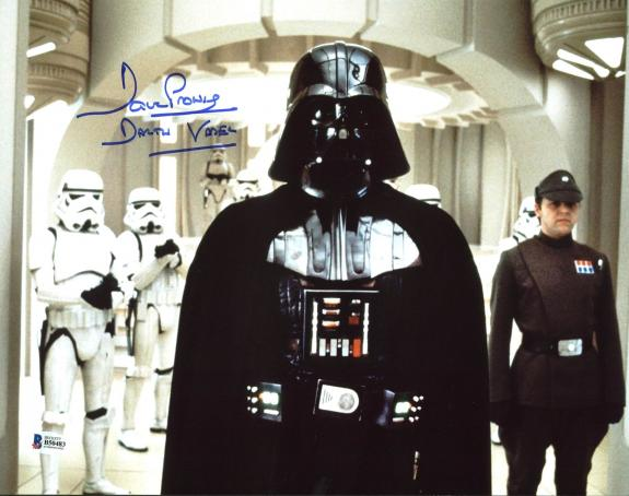 "David Prowse Star Wars ""Darth Vader"" Signed 11X14 Photo BAS 7"