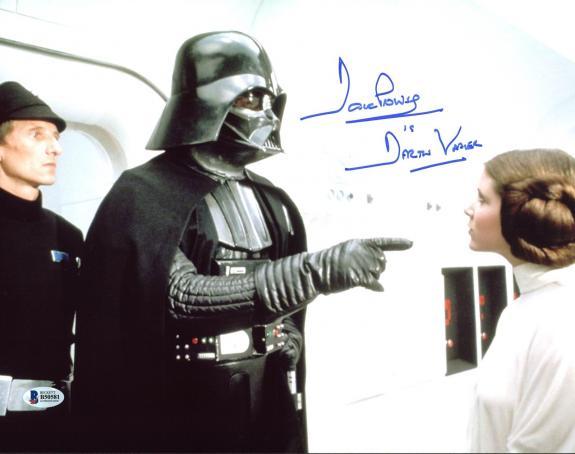 """David Prowse Star Wars """"Darth Vader"""" Signed 11X14 Photo BAS 8"""
