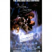 "David Prowse Star Wars Framed Autographed Empire Strikes Back Movie Poster with ""Darth Vader"" Inscription - Steiner"