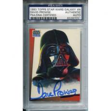 David Prowse Topps Star Wars Galaxy Autographed Card