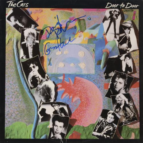 David Robinson & Greg Hawkes Autographed The Cars Door to Door Album Cover - PSA/DNA COA