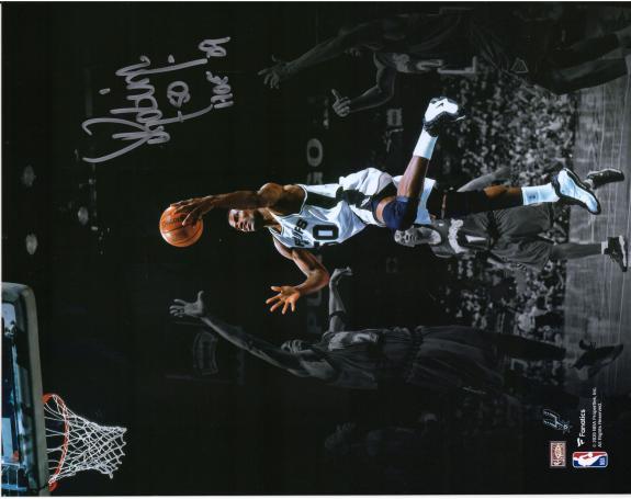 "David Robinson San Antonio Spurs Autographed 11"" x 14"" Spotlight Lay Up Photograph"