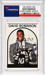David Robinson San Antonio Spurs Autographed 1994 SkyBox Hoops #DR1 Card