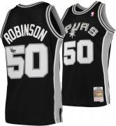 David Robinson San Antonio Spurs Autographed Black 1998 Mitchell & Ness Swingman Jersey