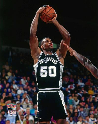 David Robinson San Antonio Spurs Unsigned Jump Shot Photograph