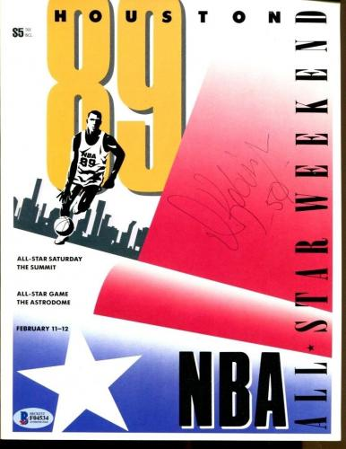 David Robinson Signed 1989 NBA All Star Program Autographed Spurs BAS F04534