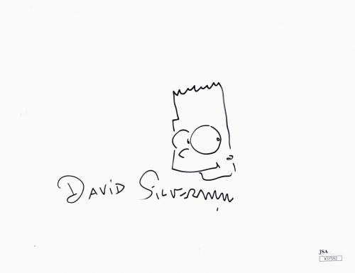 DAVID SILVERMAN Signed BART SKETCH Photo The Simpsons JSA Authentic Autographed