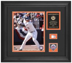 "David Wright New York Mets Framed 8"" x 10"" Photograph with Game-Used Baseball Piece & Descriptive Plate - Limited Edition of 500"