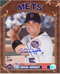 "David Wright New York Mets Autographed 8"" x 10"" Pose with Bat Photograph"