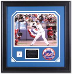 "David Wright New York Mets Framed 11"" x 14"" Photograph with Game Used Jersey Piece-Limited Edition of 505"