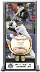 David Wright New York Mets Baseball Display Case with Gold Glove & Plate - Mounted Memories
