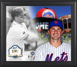 "David Wright New York Mets Framed 15"" x 17"" Mosaic Collage with Game-Used Baseball-Limited Edition of 99"